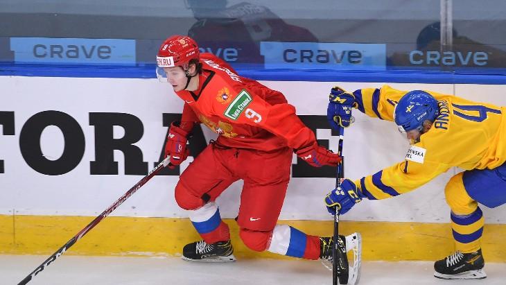 Михаил Абрамов в матче со Швецией из-за дисквалификации