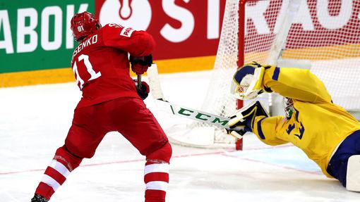 Владимир Тарасенко реализовал решающий буллит в матче со Швецией