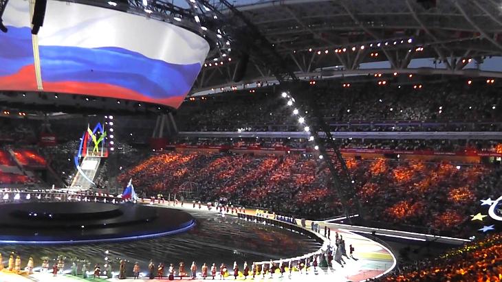 Кадр открытия Универсиады-2013