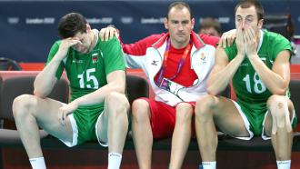Игроки сборной Болгарии после поражения