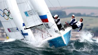 российские яхтсменки на Олимпиаде-2012