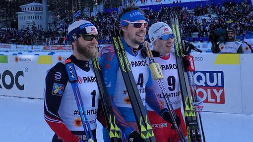 Призеры мужского скиатлона