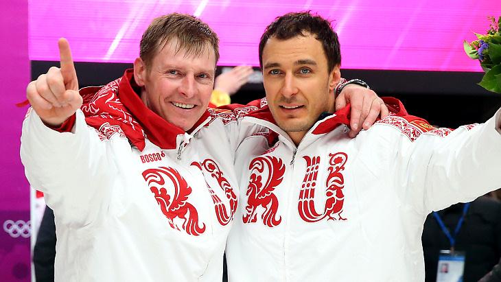 Александр Зубков и Алексей Воевода в Сочи-2014