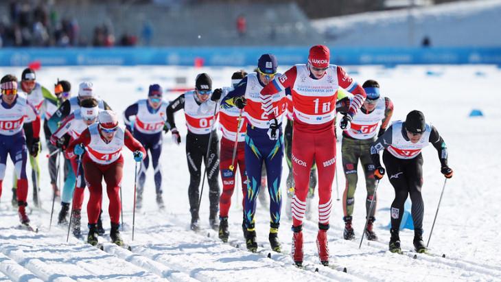 Российские лыжники выиграли серебро и бронзу в масс-старте на Универсиаде
