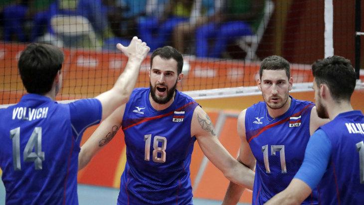Российские волейболисты