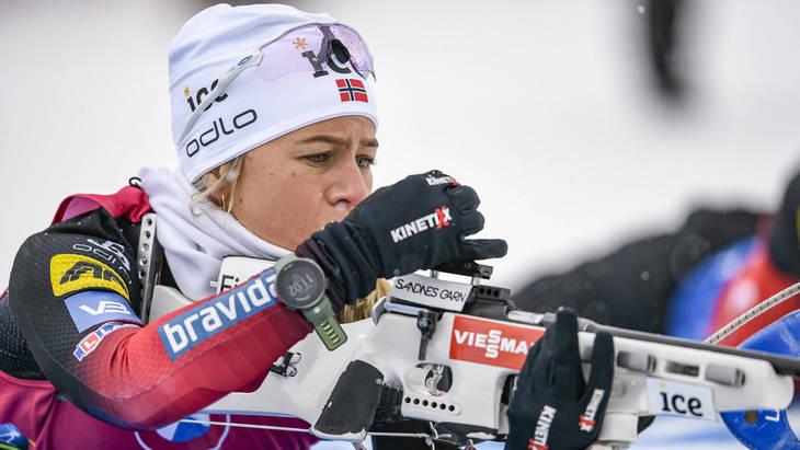 Норвежки заняли весь пьедестал в спринте на этапе КМ в Хохфильцене