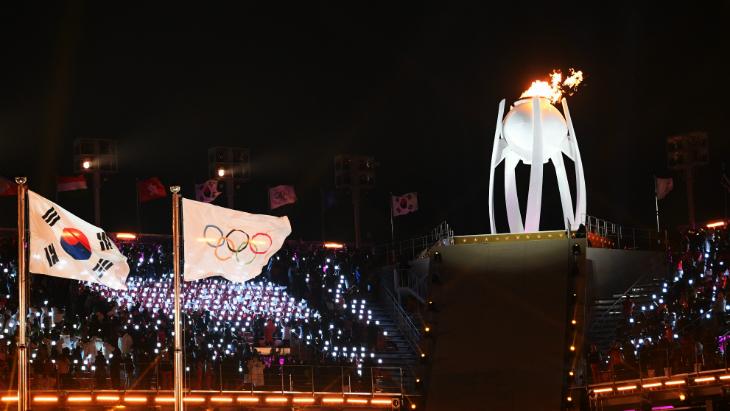 Олимпийский огонь в Пхенчхане