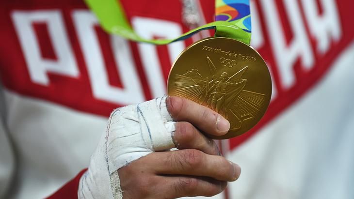 Первая золотая медаль сборной России
