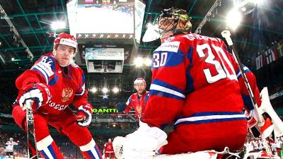 Сборная России по хоккею в последнем матче на ЧМ-2013 против США (3:8)