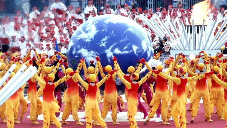 Церемония открытия Олимпиады в Нагано