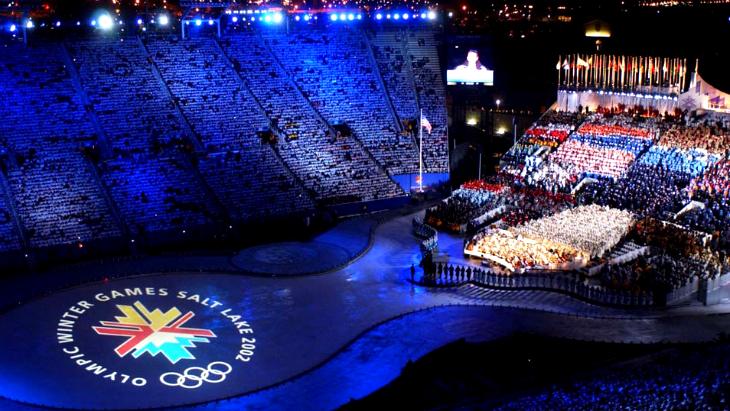 Церемония открытия Олимпиады в Солт-Лейк-Сити