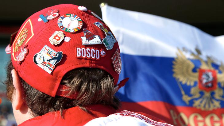 Болельщик сборной России в Сочи
