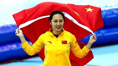 Хон Чжан с китайским флагом