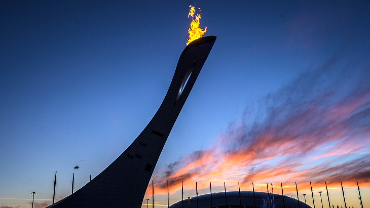 Олимпийский огонь Сочи-2014 12 февраля