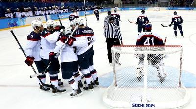 Хоккеисты сборной США не оставили шансов команде Словакии