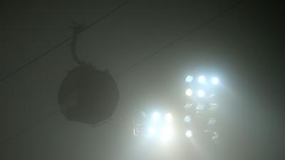 На трассу опустился сильный туман
