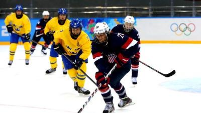 Американские хоккеистки разгромили шведок в полуфинал олимпийского турнира