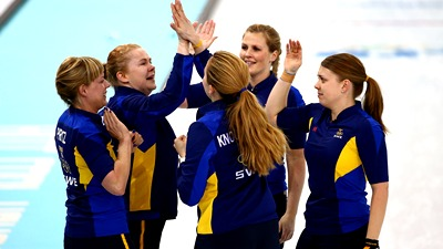 Керлингистки из Швеции