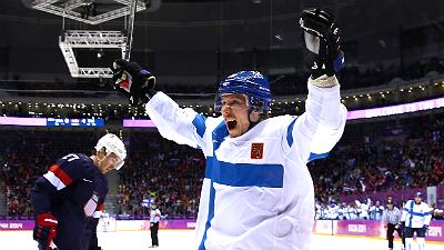 Юсси Йокинен празднует победу