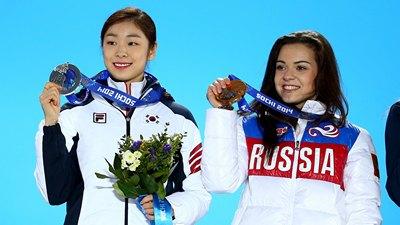 Ким Ю На и Аделина Сотникова
