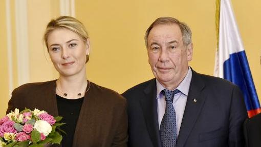 Шамиль Тарпищев и Мария Шарапова