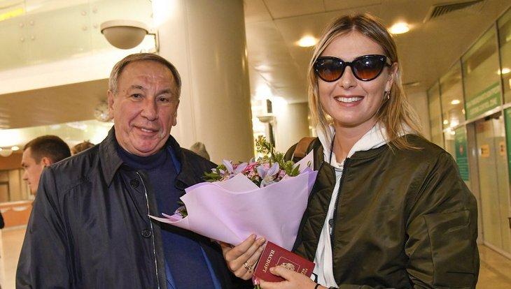 Мария Шарапова с Шамилем Тарпищевым