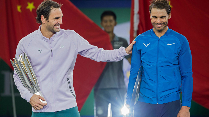 Роджер Федерер и Рафаэль Надаль в Шанхае