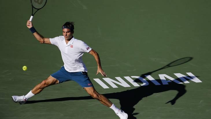Роджер Федерер в Индиан-Уэллсе