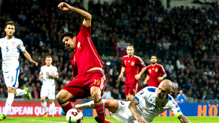 Футбол словакия испания результат