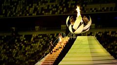 Олимпийский огонь в Токио-2020